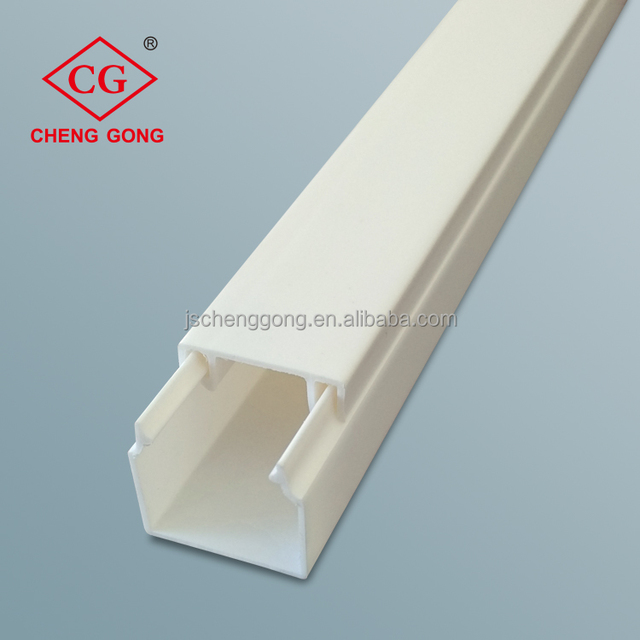 Full sizes PVC cable trunking for protecting the wire cable