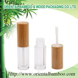 BLM-031 Promotional cosmetic empty refill bamboo lip gloss case packaging fashion lip gloss case for young girl