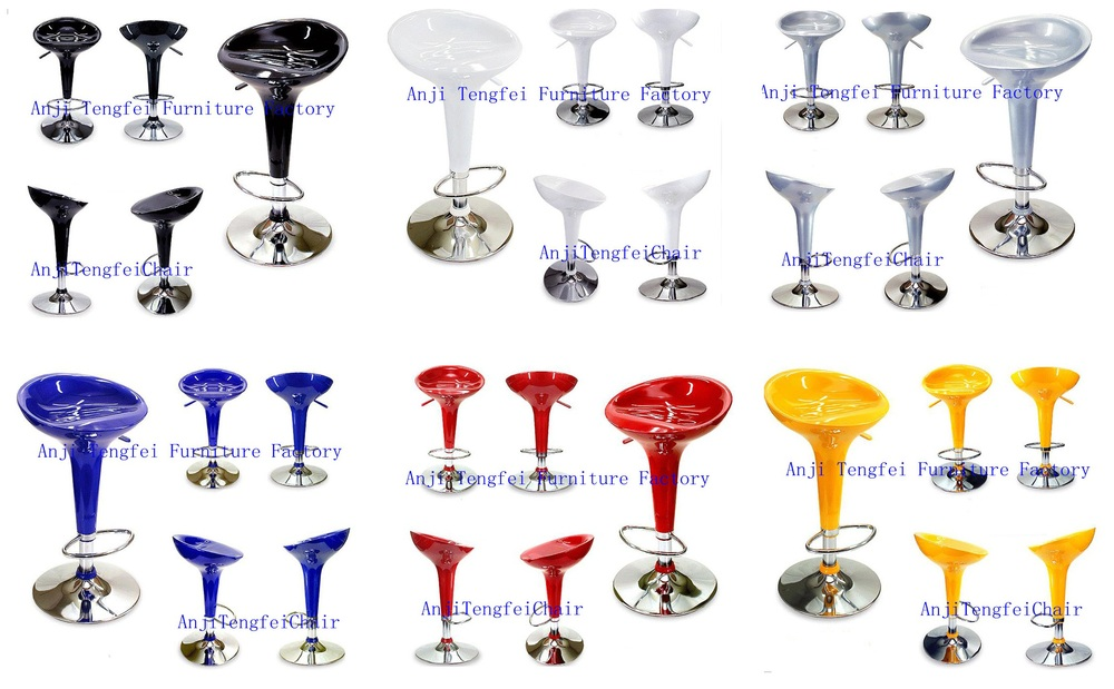 ABS bar stool,with SGS Certification 330 hight gas lift 385mm chroming base,Hot sale, Popular in the market!