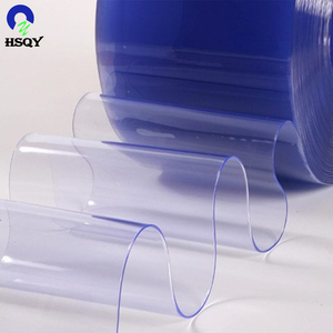 Blue Tint Soft PVC Transparent Film Colorful Transparent PVC Film