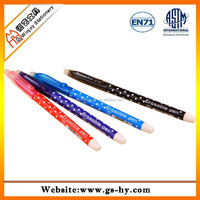 2015 new design special ink ball pen with rubber eraser tip