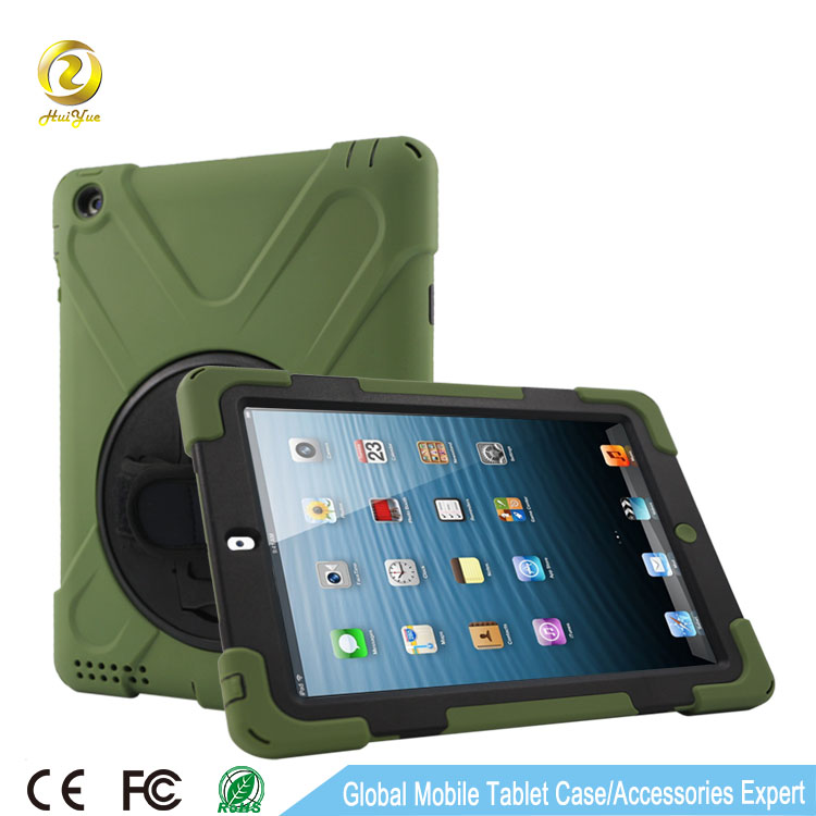 Unbreakable Silicon Protective Case For Ipad 234 with hand strap