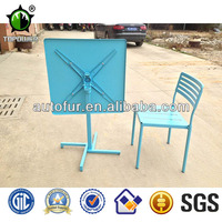Folding square metal outdoor stackable tables