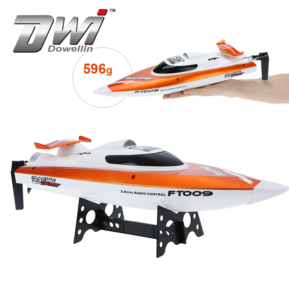 DWI Dowellin FT009 2.4G Water Cooling Racing Boat 30km/h Top Speed RC Jet Boat for sale