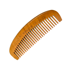 a bamboo wooden antistatic anti dandruff wide tooth comb for beard and hair