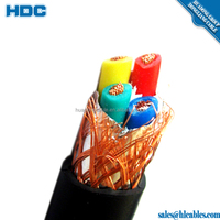Multi Core PVC Insulated and PVC sheathed Flexible Cable with screen shield 300/300V & 300/500V Shielded Power Cable