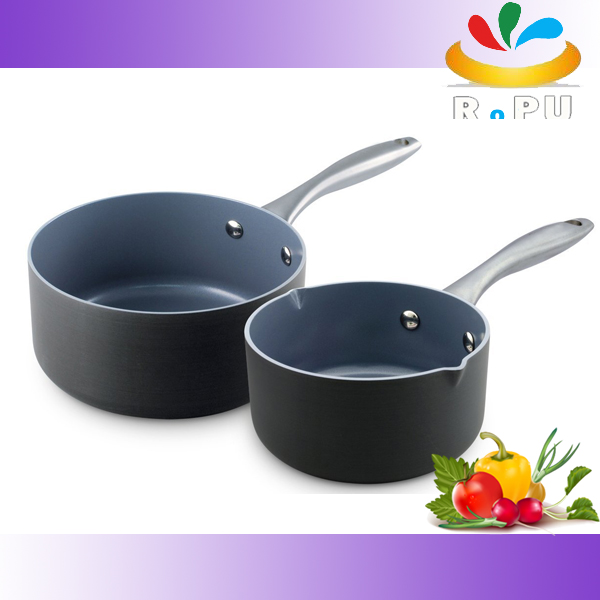 2016mini aluminum nonstick sauce pans hard anodized cookware set
