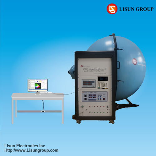 LPCE-3(LMS-7000VIS) integrating sphere spectroradiometer with software run under PC to measure led luminaires lumen and cct temp