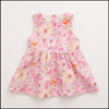 digital printed 100% linen frock design for baby girl
