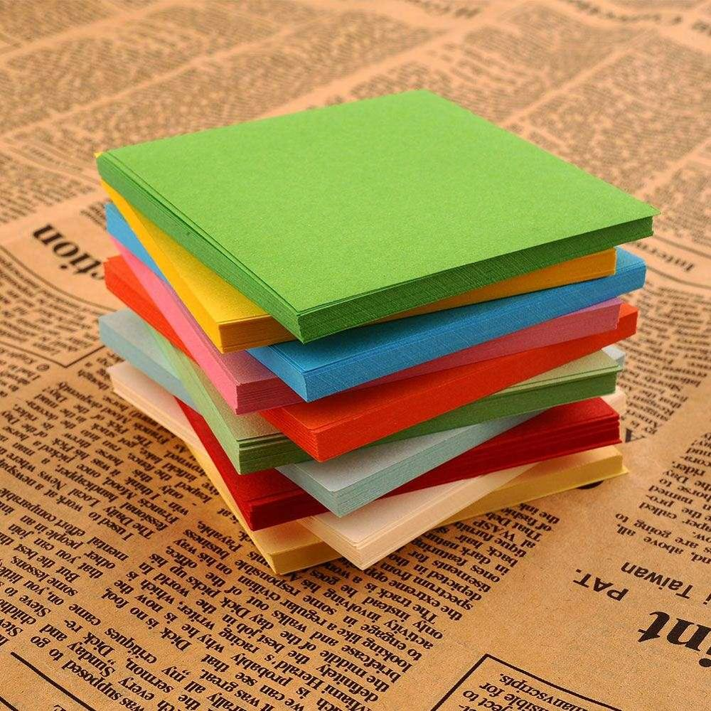520Pc Origami Square Paper Double Sided Sheets Scrapbooking 77CM Origami Paper Double Folded Paper