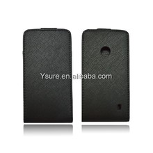 slim protective leather flip case for nokia asha 501 case with card slot