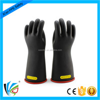 latex dielectric gloves for insulating work safety equipments class 2