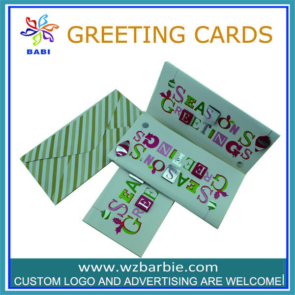3d paper card with writing letter and envelope