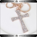 Daihe Gold Plated Cross Keychain with crystal