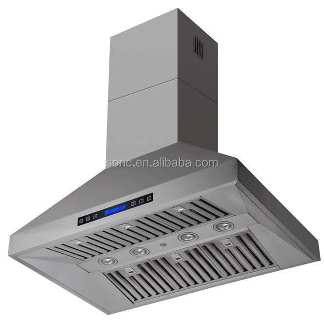 High Quality Island Mounted BBQ Range Hood