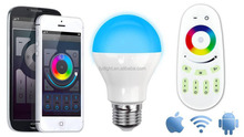 E27 Milight 2.4G 6W RGBW White LED Bulb Group + RF Remote + WIFI Controller