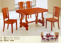 Discount Price Burma Teak Wood Furniture Formal Dining Table Chairs Set