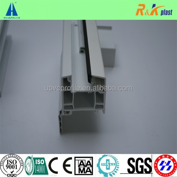 High quality 60mm series white strip co -extrusion upvc window profiles