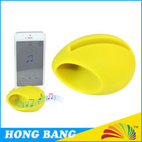 HBJ029 Mobile phone accessories rubber silicone egg speaker for iphone