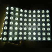 Optical Lens LED Backlight Sheet for curved area lighting
