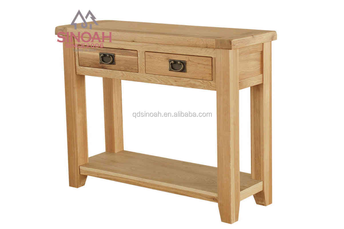 solid oak console table/ wood table/ living room furniture(RLCON)