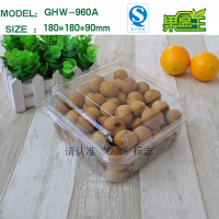 Chinese made transparent pet plastic packaging box for fresh fruit and vegetable