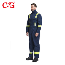 Latest design flame retardant reflective aramid iiia coveralls fire proof clothing