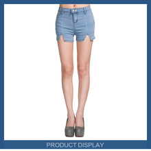 New design Fashion lady height-waist short denim jean pant