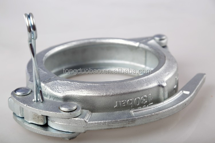 DN125 5.5'' concrete pipe connection forged and galvanized fast clamps