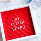 Felt Letter Board Wooden Advertising Letter Board 10x10 Oak Frame Flet Pin Board 2017 Hot Sale