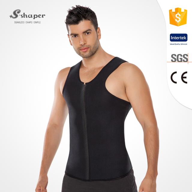 S-SHAPER Slimming Neoprene Vest Hot Sweat Shirt Body Shapers For Weight Loss Mens