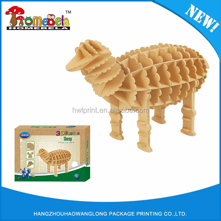 3d puzzle, educational toys,DIY 3d jigsaw puzzle Animal