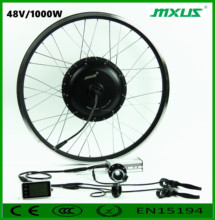 MXUS 48v 1000w easy install BLDC electric bike wheel hub motor kit with battery