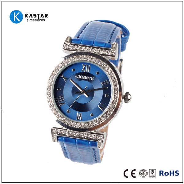 Simple fashion genuine leather band elegant watch for gifts stainless steel watch