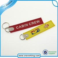 Custom Embroidery Keychain made by hand remove before flight