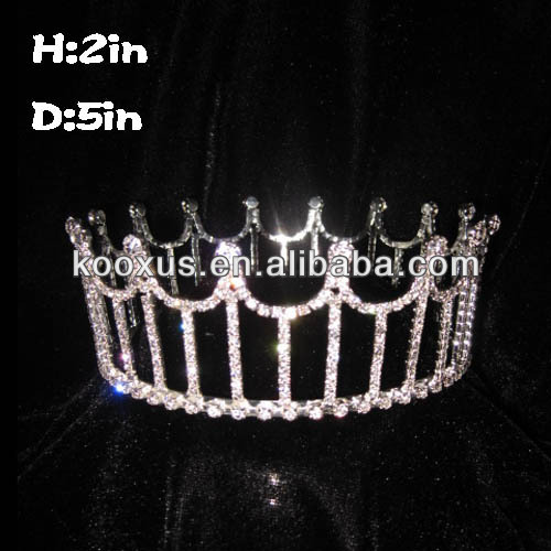 Cheap Full Round Crystal Pageant Crowns made in China
