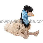 promotional custom soft plush stuffed australian bird emu sitting logo beanbag embroidery imprinted bandana t-shirt bib tie 471