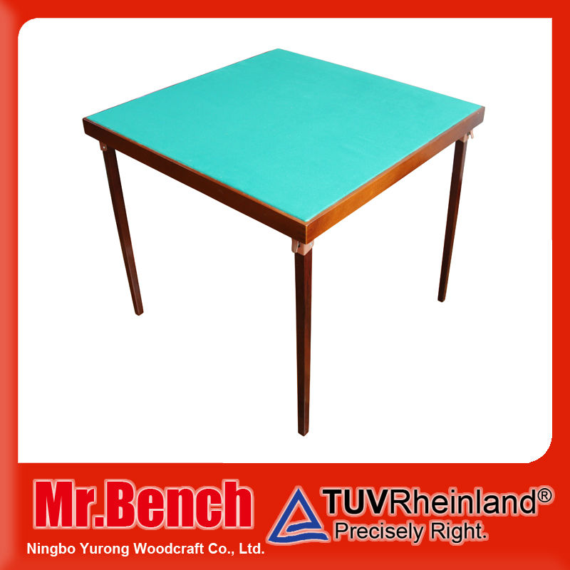 Professional factory used poker card table with foldable legs, outdoor furniture, wooden folding poker table wholesale