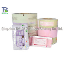 Printed laminated packaging plastic film for wet wipes from China supplier