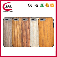 Rock Wood Grain Solid Wood + TPU Mobile Phone Cover Case for iphone 7 Plus