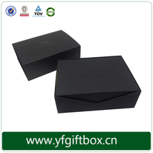 Black foldable chocolate boxes foiling logo matt boxes customized edible chocolate box