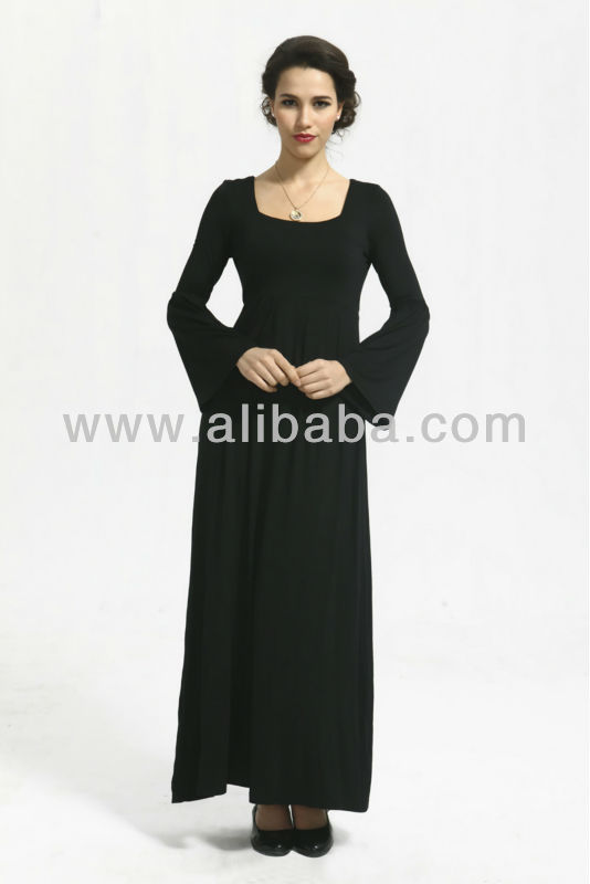 Long Sleeve Abaya Jubah Muslim Dress - FJ0002