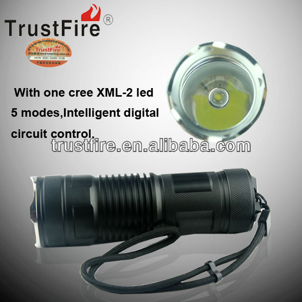 trustfire original factory newest A9 <strong>cree</strong> XML-2 5-Mode 800lumens rechargeable LED aluminum torch Flashlight (4*14500)