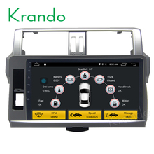 "Krando Android 6.0 10.1"" full touch car dvd player for toyota prado land cruiser LC150 2014+ multimedia system wifi 4G KD-TP114"