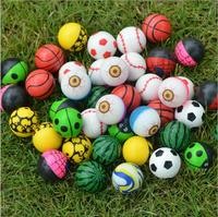 colorful bright solid 27mm bouncy ball various design wholesale option eyeball high bouncing balls