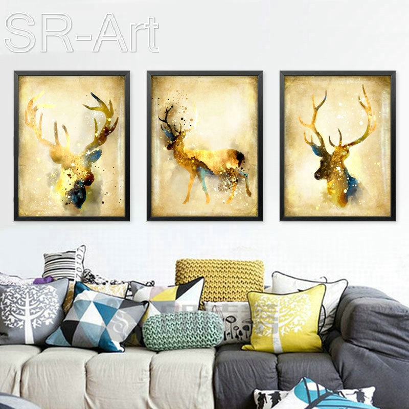 Newest Wall Art Canvas Print Nordic Animal Painting