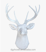 life size wall decoration wall mounted plastic resin animal head of deer