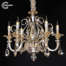 A6667-6 6 light factory wholesale price austrian asfour crystal Chandelier
