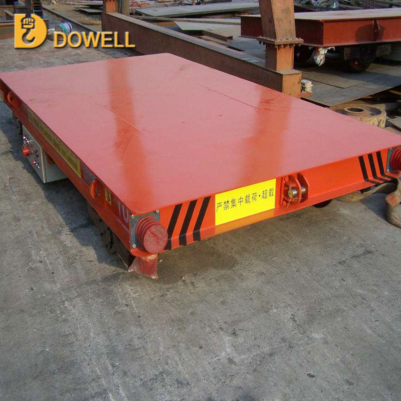 industrial electric flat freight rail transfer cart