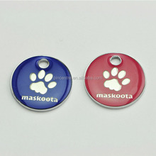 Custom paw glitter pet dog tags for dogs